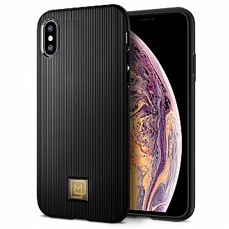 Spigen LA MANON for iPhone XS / X - Classy Black color