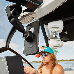 Lifeproof Suction car Mount with QuickMount for iPhones, androids, apple devices.