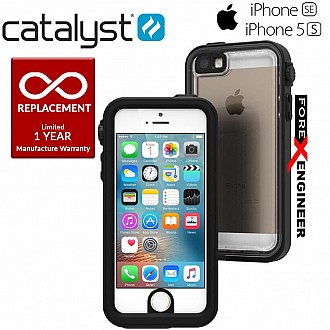 Catalyst Waterproof Shock-proof Resistant Case for Apple iPhone 5 / 5S / SE - Stealth Black
