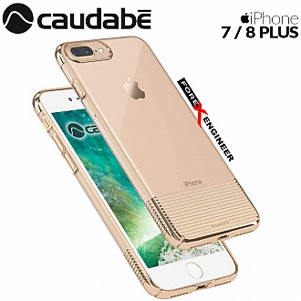 Caudabe Lucid Clear for iPhone 7 / 8 Plus - Gold Metallic color