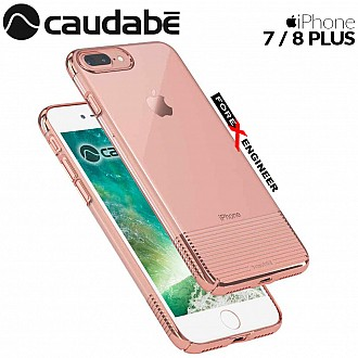 Caudabe Lucid Clear for iPhone 7 / 8 Plus - Rose Gold Metallic color