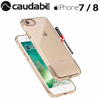 Caudabe Lucid Clear for iPhone 7 / 8 - Gold Metallic color