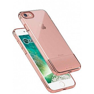 Caudabe Lucid Clear for iPhone 7 - Rose Gold Metallic color
