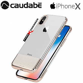 Caudabe Lucid Clear for iPhone X / Xs - Rose Gold Metallic