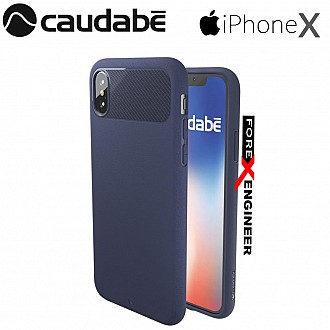 Caudabe the Sheath for iPhone X Premium Ultra Thin Case - Navy