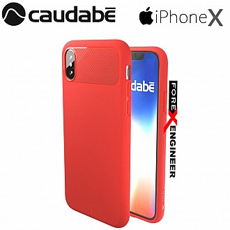 Caudabe the Sheath for iPhone X Premium Ultra Thin Case - Red
