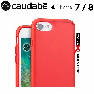 Caudabe The Synthesis for iPhone 7 / 8 Premium Ultra Thin with Protection Case - Red