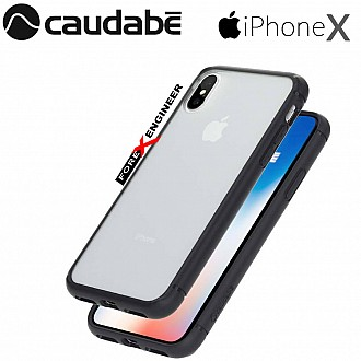 Caudabe The Synthesis for iPhone X Premium Ultra Thin with Protection Case - Black color