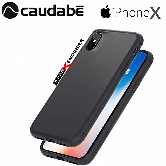 Caudabe The Synthesis for iPhone X Premium Ultra Thin with Protection Case - Stealth Black color
