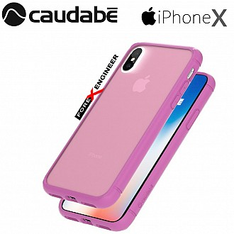 Caudabe The Synthesis for iPhone X Premium Ultra Thin with Protection Case - Violet color