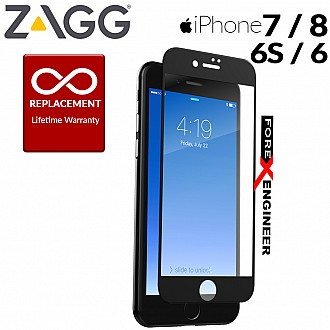 ZAGG InvisibleShield Glass CONTOUR Tempered Glass Screen Protector for Apple iPhone 6 / 6S / 7 / 8 - Black