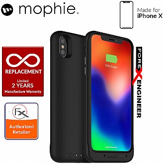 Mophie Juice Pack Air for iPhone X / Xs - Slim protective battery case with wireless charging - 1,720mah - black color