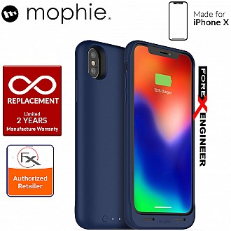 Mophie Juice Pack Air for iPhone X / Xs - Slim protective battery case with wireless charging - 1,720mah - blue color