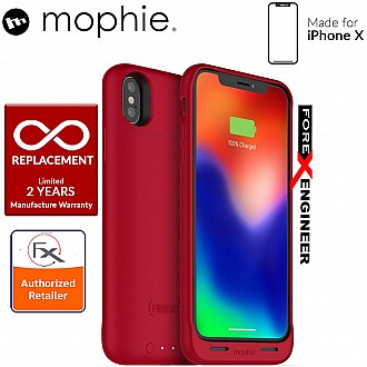 Mophie Juice Pack Air for iPhone X / Xs - Slim protective battery case with wireless charging - 1,720mah - RED color (Product RED)