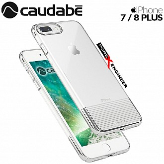 Caudabe Lucid Clear for iPhone 7 / 8 Plus - Silver Metallic