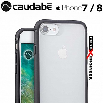 Caudabe The Synthesis for iPhone 7 / 8 Premium Ultra Thin with Protection Case - Black