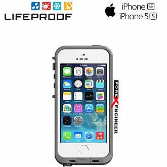 Lifeproof Fre Waterproof, Shock-proof, Dirt-proof Case for iPhone 5/5S/SE - Avalanche White color