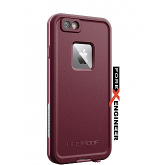 Lifeproof Fre Waterproof, Shock-proof, Dirt-proof Case for iPhone 6/6S - (white, crush purple) color
