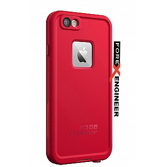 Lifeproof Fre Waterproof, Shock-proof, Dirt-proof Case for iPhone 6 - Redline RED color