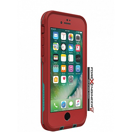 Lifeproof Fre Waterproof, Shock-proof, Dirt-proof Case for iPhone 7 - Ember Red (clearance - no warranty)