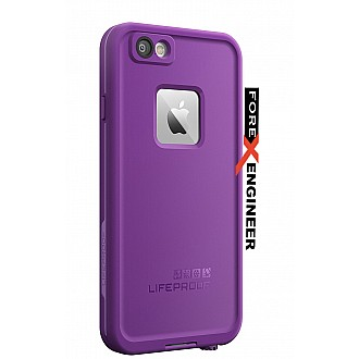 Lifeproof Fre Waterproof, Shock-proof, Dirt-proof Case for iPhone 6 ONLY - Pumped Purple  color