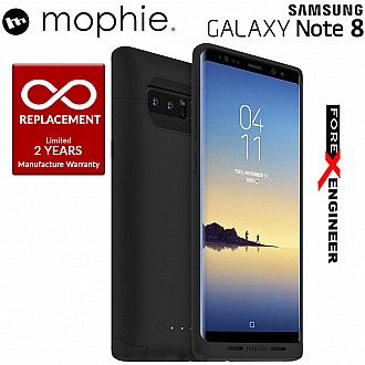Mophie juice pack wireless charging protective battery pack case for Samsung Galaxy Note 8 - Black color