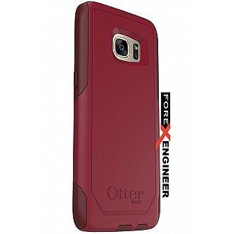 Otterbox Commuter Series for Samsung Galaxy S7 Edge - Flame Way (Red/Burgundy) - Dark Red