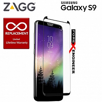 ZAGG InvisibleShield Glass Curve Elite for Samsung Galaxy S9 / S9 Screen Protector, Impact and Scratch Protection – Smudge Resistant – Limited Lifetime Warranty