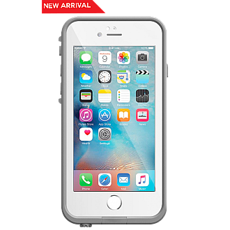 Lifeproof Fre Waterproof, Shock-proof, Dirt-proof Case for iPhone 6 ONLY - White color