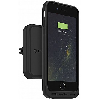 Mophie Charge Force Vent Mount Wireless Charging (for car mount) for mophie cases with Charge Force wireless power – Black color (wireless charging station)