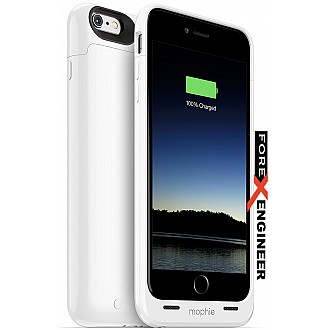 Mophie juice pack iPhone 6 Plus / 6s Plus build-with protective Battery Case for iPhone 6 Plus/6s Plus (2,600mAh) - White
