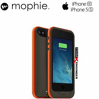 Mophie Juice Pack Plus 2100mah for iphone 5 / 5s / SE - Outdoor Special Edition (Orange Color)