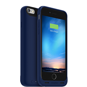 Mophie Juice Pack Reserve Lightweight and Compact Mobile Protective Battery Case for iphone 6 / 6s - blue color
