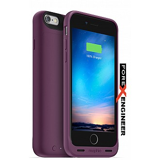 Mophie Juice Pack Reserve Lightweight and Compact Mobile Protective Battery Case for iphone 6 / 6s - Purple