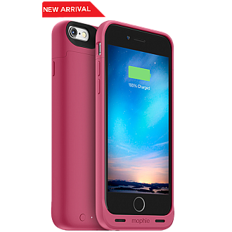 Mophie Juice Pack Reserve Lightweight and Compact Mobile Protective Battery Case for iphone 6 / 6s - soft-touch pink