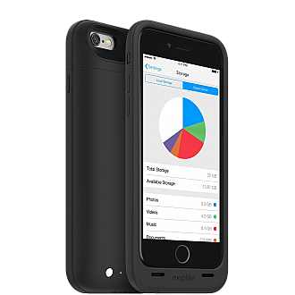Mophie Space Pack 64GB for iPhone 6 / 6S - black color