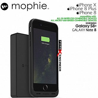 Mophie Charge Force Powerstation Wireless External Battery Charger for mophie Cases and Qi-enabled devices - Black (wireless charging station)