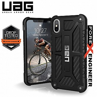 UAG Monarch for iPhone X / Xs Feather-Light Rugged & Military Drop Tested - Carbon Fiber