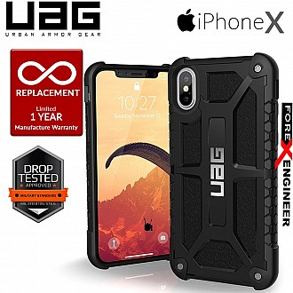 UAG Monarch for iPhone X / Xs Feather-Light Rugged & Military Drop Tested - Black