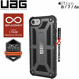 UAG Monarch for iPhone 8 / 7 / 6s Feather-Light Rugged & Military Drop Tested - Graphite color (Compatible with iPhone SE 2nd Gen. 2020 ) (Barcode: 854778006814 )