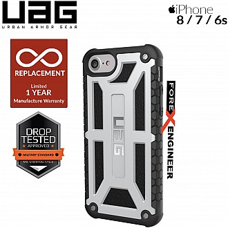 UAG Monarch for iPhone 8 / 7 / 6s Feather-Light Rugged & Military Drop Tested - Platinum Color