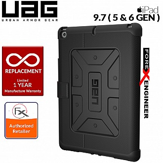 UAG Metropolis for iPad 9.7 inch (2017 5th Gen and 2018 6th Gen) Feather-Light Rugged - Military Drop Tested iPad Case -Midnight / Black