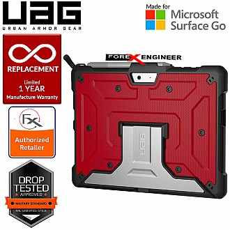 UAG Metropolis Series for Microsoft Surface Go - Magma