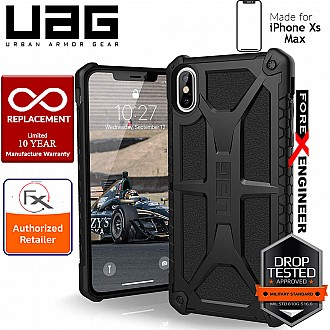 UAG Monarch for iPhone Xs Max Feather-Light Rugged & Military Drop Tested - Black color
