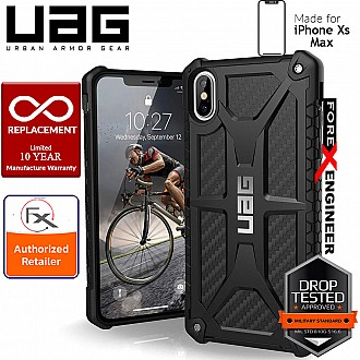 UAG Monarch for iPhone Xs Max Feather-Light Rugged & Military Drop Tested - Carbon Fiber color