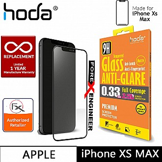 Hoda Tempered Glass for iPhone Xs MAX - 2.5D 0.33mm Full Coverage Anti-Glare Screen Protector - Matte