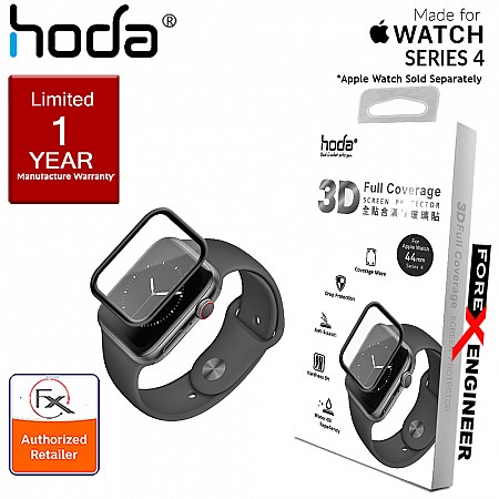 HODA Screen Protector for Apple Watch Series 4 ( 44mm ) - 3D Full Coverage Tempered Glass  - Black