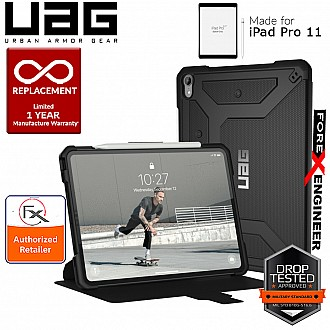 UAG Metropolis for iPad Pro 11 inch Rugged Military Drop Tested iPad Case - Black