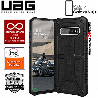 UAG Monarch for Samsung Galaxy S10+ / S10 Plus - Rugged Military Drop Tested - Black