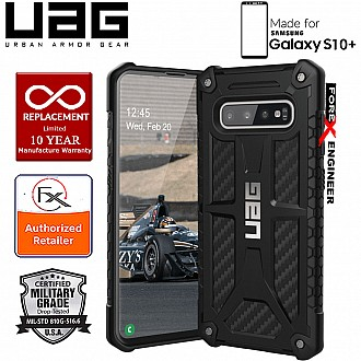 UAG Monarch for Samsung Galaxy S10+ / S10 Plus - Rugged Military Drop Tested - Carbon Fibre